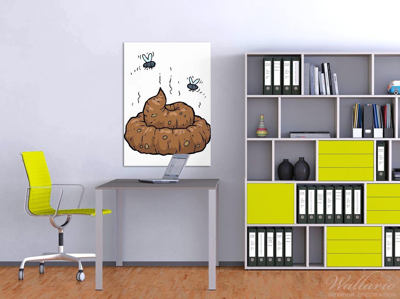Wandbild Comic Scheißhaufen mit Fliegen – Bild 2
