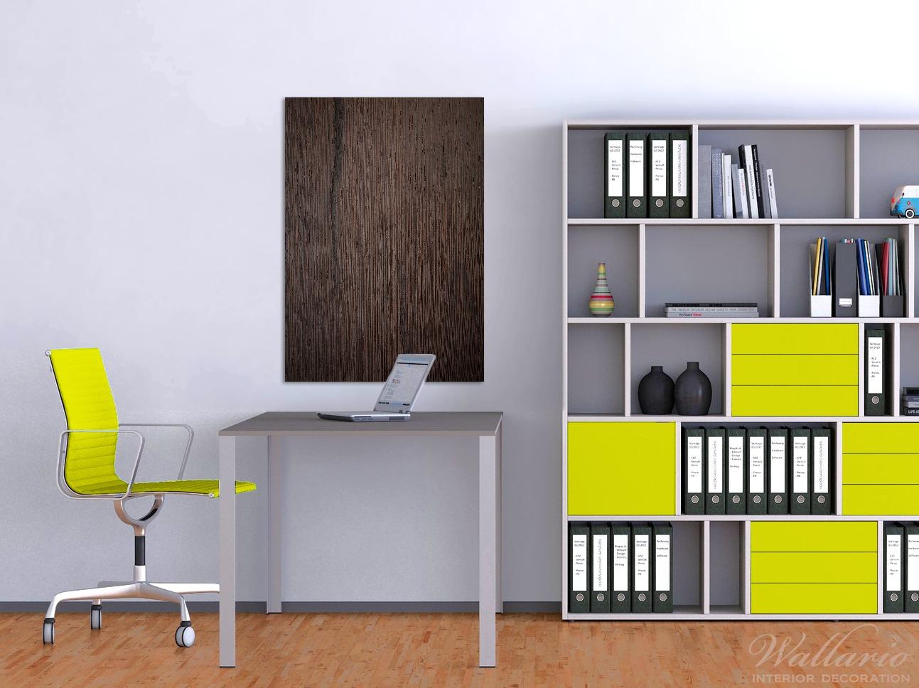 Wandbild Holz-Optik Textur dunkelbraunes Holz – Bild 2
