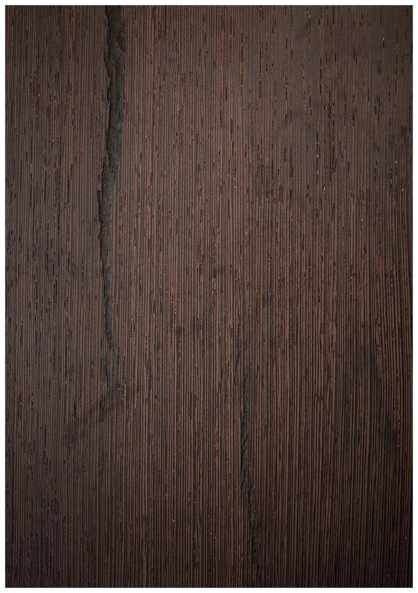 Wandbild Holz-Optik Textur dunkelbraunes Holz – Bild 1