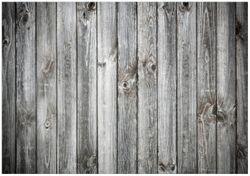 Wandbild Holz-Optik Textur hellgraues Holz Paneele Dielen mit Asteinschlüssen – Bild 1