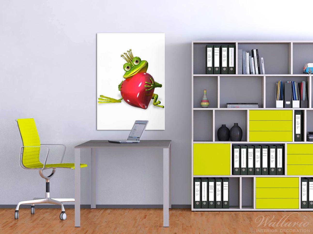 Wandbild Verliebter Froschkönig mit großem Herz – Bild 2