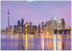 Wandbild Toronto Skyline - Kanada am Abend – Bild 1