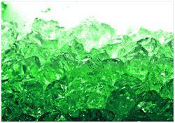 Wandbild Leuchtendes Eis in grün – Bild 1