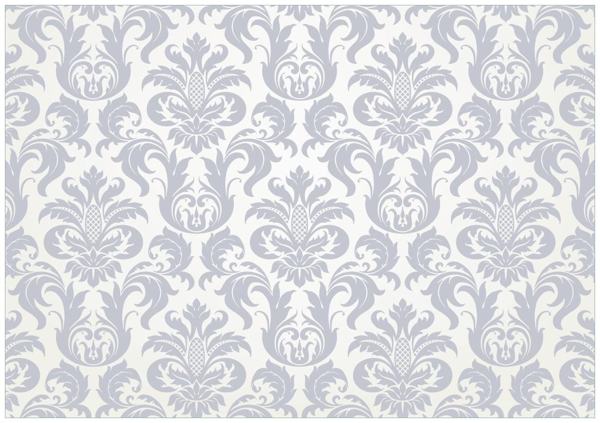 Wandbild Königliche Schnörkelei in weiß und blaugrau – Bild 1