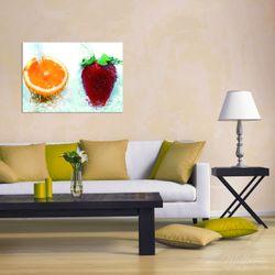 Wandbild Frische Früchte übergossen mit Wasser I – Bild 2