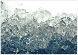 Wandbild Leuchtendes Eis in blau-grau – Bild 1