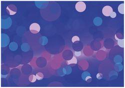 Wandbild Blaue Kreise mit pink - harmonisches Muster – Bild 1