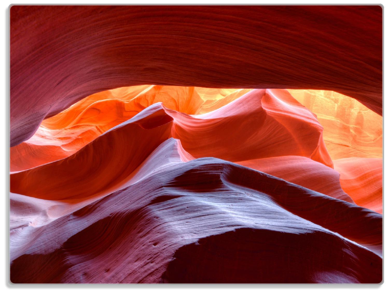 Glasunterlage Antelop Canyon USA  Kalksandsteingebirge in leuchtenden Farben – Bild 1