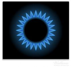 Herdabdeckplatte Flamme Gasherd bei Nacht – Bild 1
