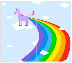 Herdabdeckplatte Einhorn mit Regenbogen aus dem Hintern – Bild 1