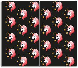 Herdabdeckplatte Einhorn Muster - Süße rosa Einhörner mit Sternen – Bild 1