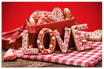 Herdabdeckplatte Love Bakery - Backen mit Liebe  001