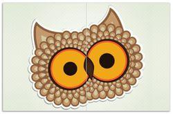 Herdabdeckplatte Lustige Comic Eule mit großen Augen – Bild 1