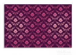 Herdabdeckplatte Blumenmuster Damast in pink lila – Bild 1