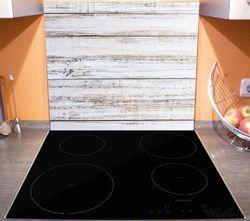 Herdabdeckplatte Helle Holzstruktur - Muster - Alter Dielenfußboden – Bild 3
