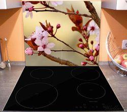 Herdabdeckplatte Frühlingsgefühle I - Kirschblüten in Nahaufnahme – Bild 3
