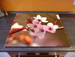 Herdabdeckplatte Frühlingsgefühle II - Kirschblüten in Nahaufnahme – Bild 2