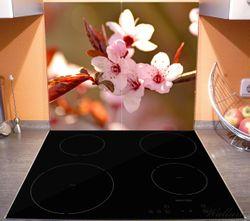 Herdabdeckplatte Frühlingsgefühle II - Kirschblüten in Nahaufnahme – Bild 3