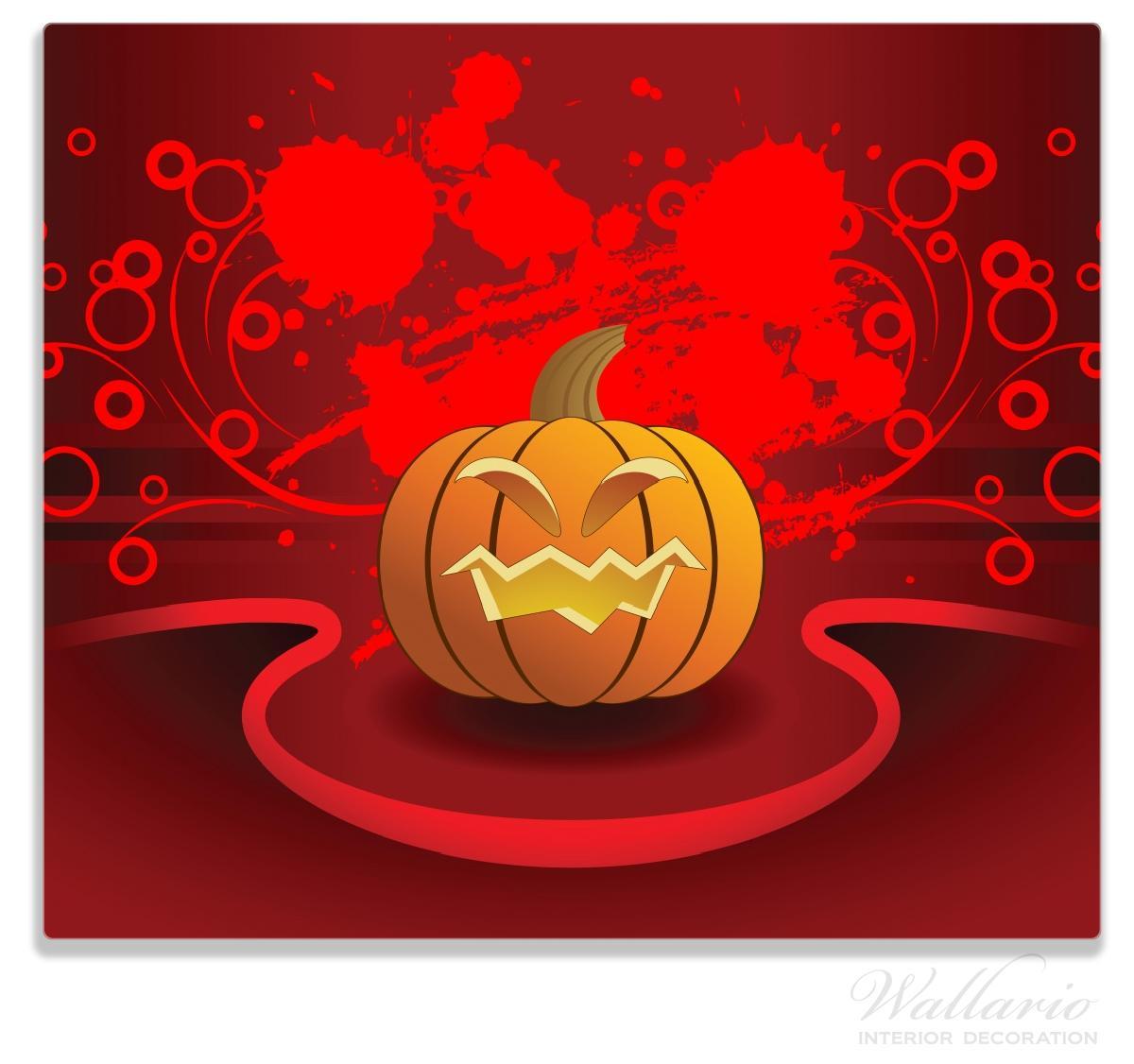 Herdabdeckplatte Geschnitzter Halloween-Kürbis im Comic Stil – Bild 1