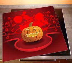 Herdabdeckplatte Geschnitzter Halloween-Kürbis im Comic Stil – Bild 2