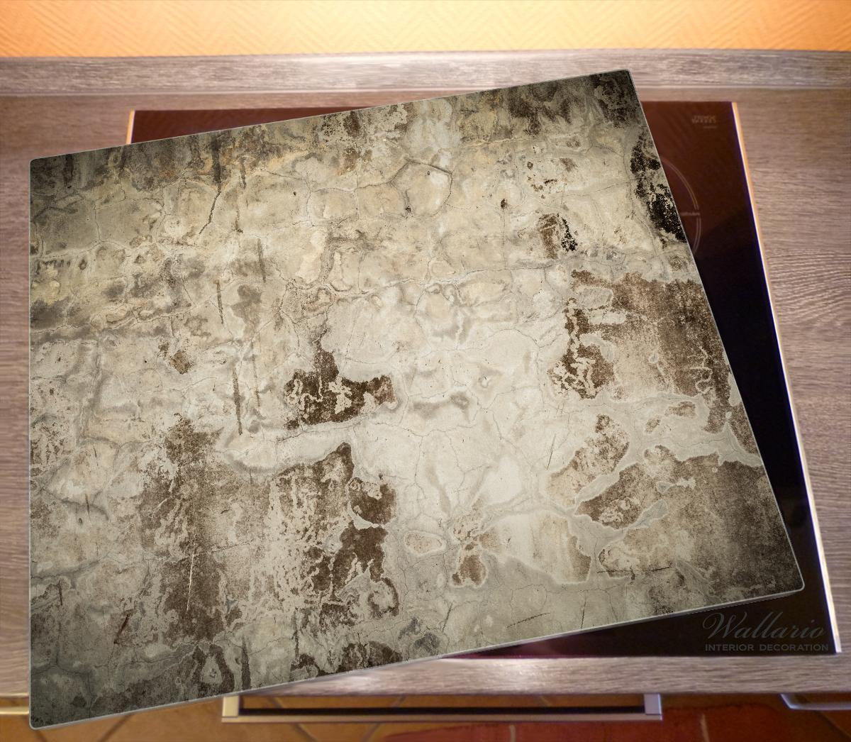 Herdabdeckplatte Alte schmutzige Wand aus Beton mit abblätternder Farbe – Bild 2