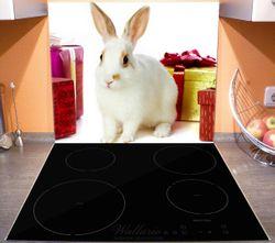 Herdabdeckplatte Süßes Kaninchen mit bunten Geschenken – Bild 4
