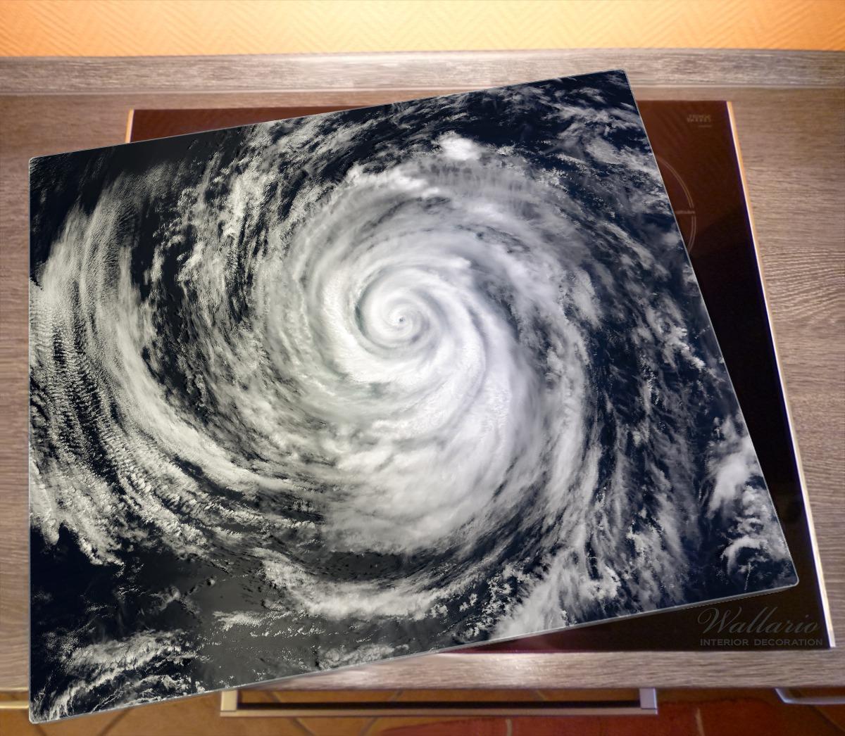 Herdabdeckplatte Hurrikan von oben - Spiralförmiger Wirbelsturm – Bild 2