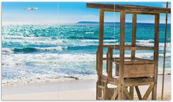 Herdabdeckplatte Badestrand - Mallorca Spanien – Bild 1
