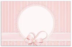 Herdabdeckplatte Geschenkkarte, Bänder, Spitzen und Schleifen in rosa – Bild 1