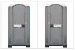 Herdabdeckplatte Tragbares Klo - Toilette in schickem grau – Bild 1