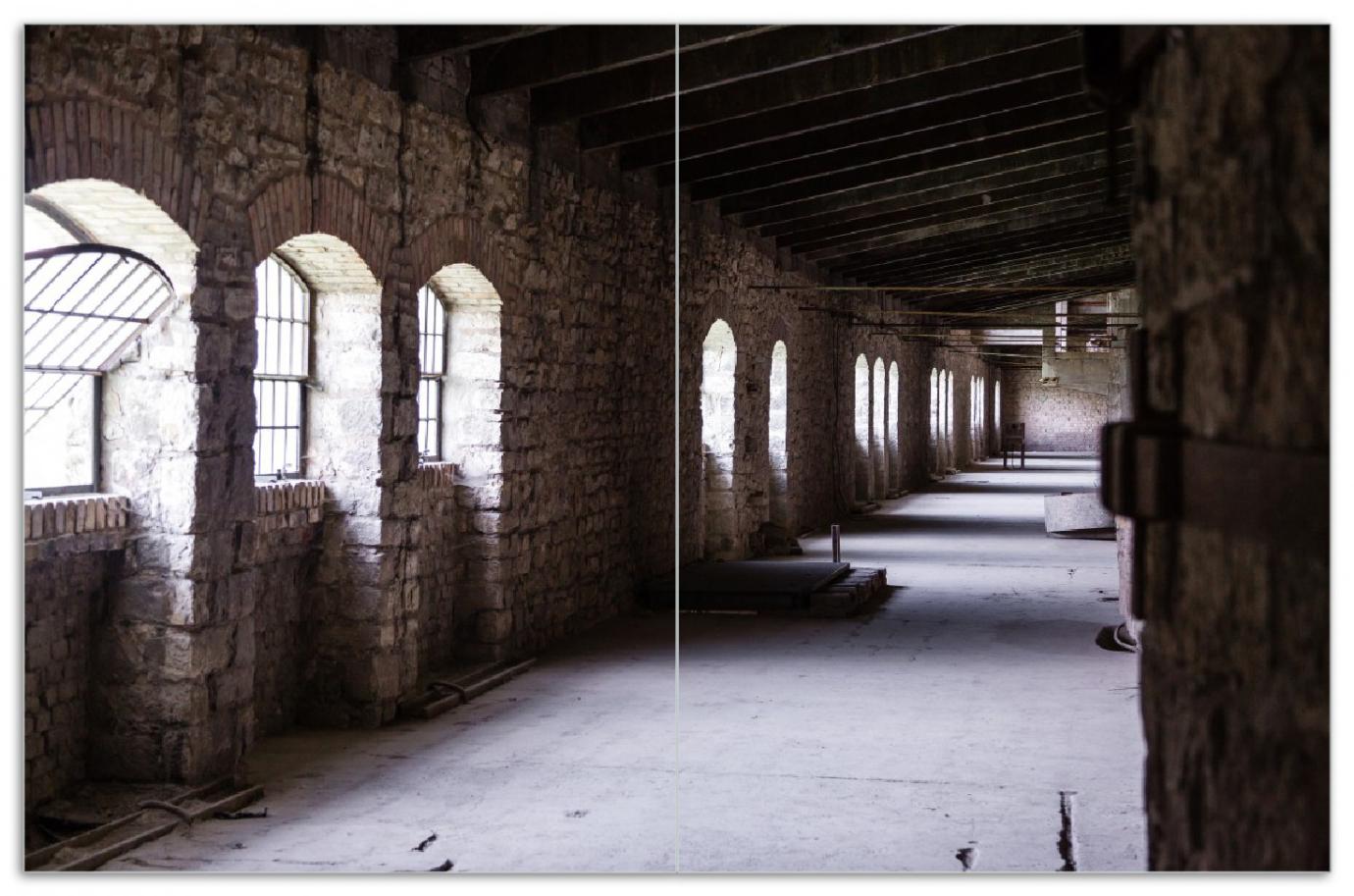 Herdabdeckplatte Altes Bauwerk - stillgelegte Fabrik  – Bild 1