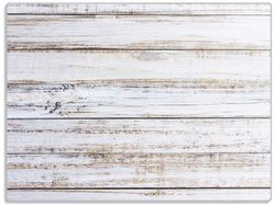 Glasunterlage Helle Holzstruktur - Muster - Alter Dielenfußboden – Bild 1