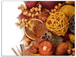 Glasunterlage Herbststimmung - Trockenfrüchte, Nüsse und Samen - Herbstdeko – Bild 1