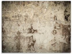 Glasunterlage Alte schmutzige Wand aus Beton mit abblätternder Farbe – Bild 1