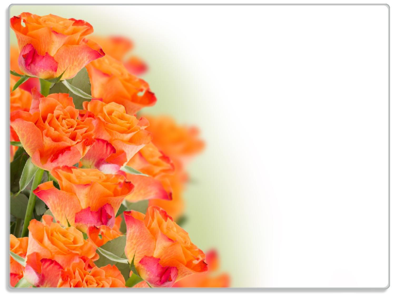 Glasunterlage Orangene Rosenblüten im Strauß  – Bild 1