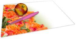 Glasunterlage Orangene Rosenblüten im Strauß  – Bild 2