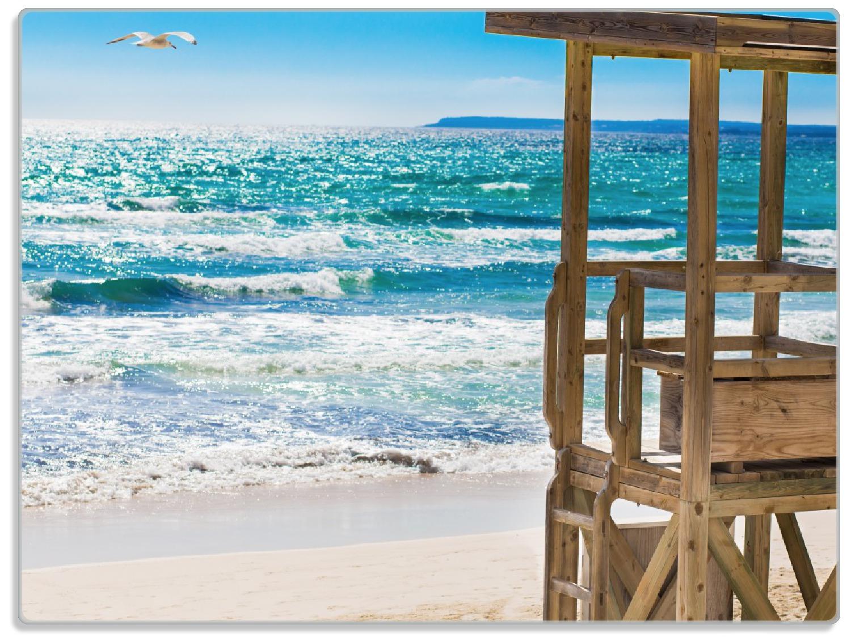 Glasunterlage Badestrand - Mallorca Spanien – Bild 1