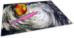 Glasunterlage Hurrikan von oben - Spiralförmiger Wirbelsturm – Bild 2