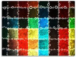 Glasunterlage Buntes Patchwork-Muster mit Kreisen – Bild 1