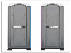 Glasunterlage Tragbares Klo - Toilette in schickem grau – Bild 1