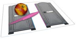 Glasunterlage Tragbares Klo - Toilette in schickem grau – Bild 2