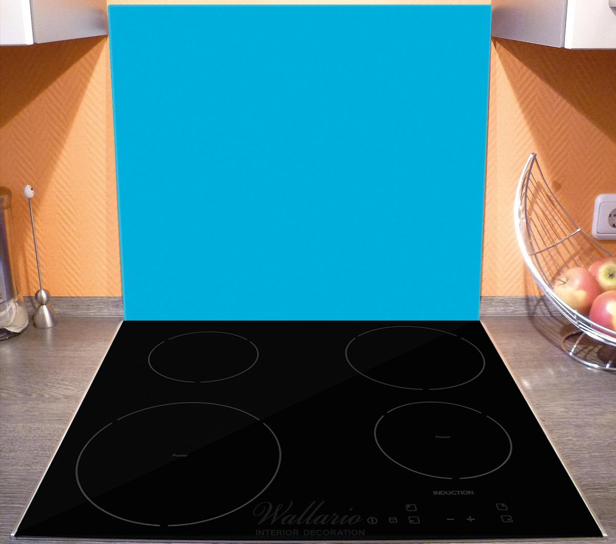 Herdabdeckplatte Hellblau – Bild 3