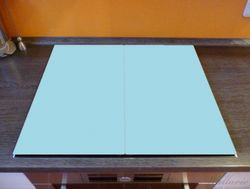Herdabdeckplatte Pastellblau – Bild 2