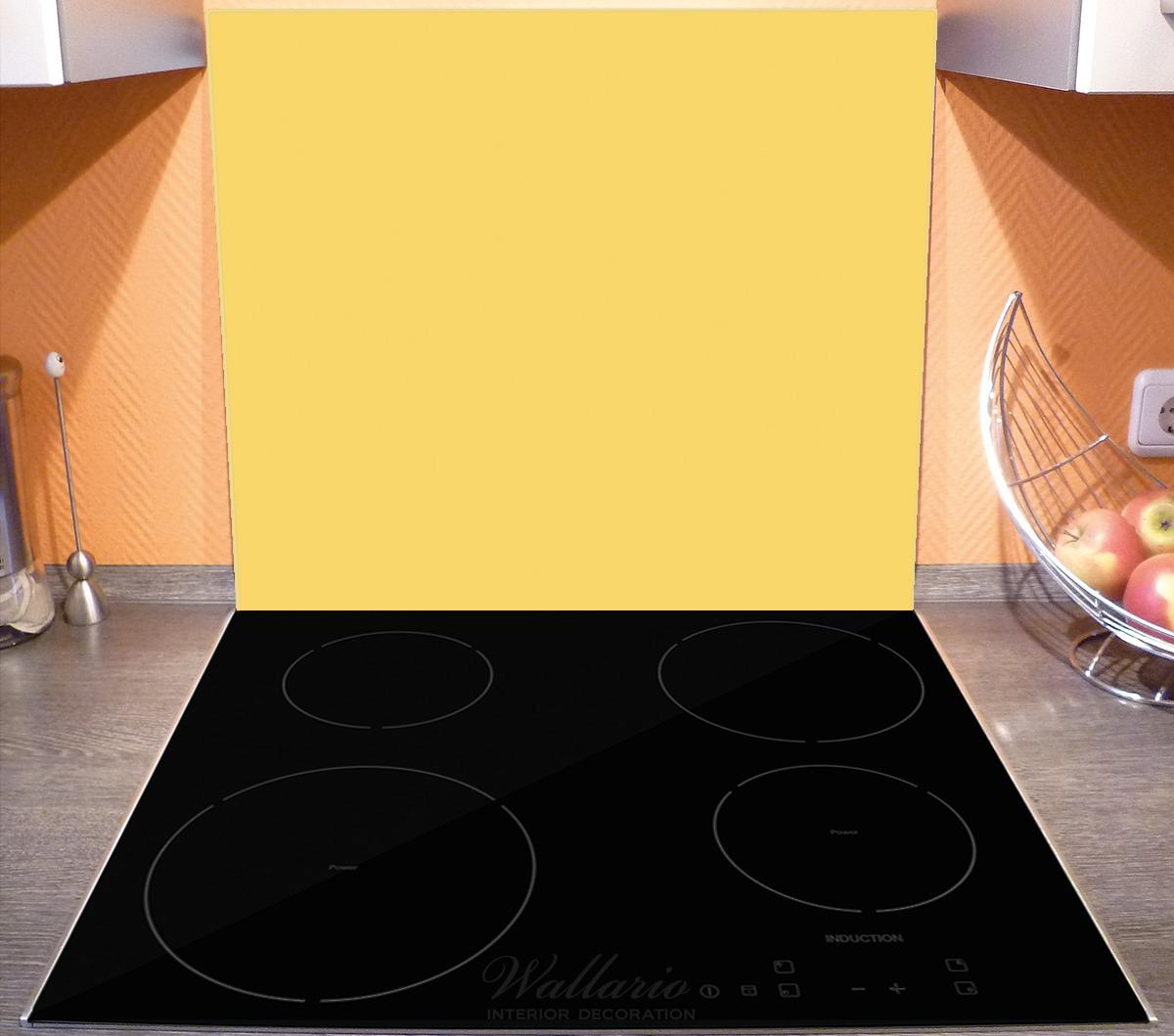 Herdabdeckplatte Pastellgelb – Bild 3