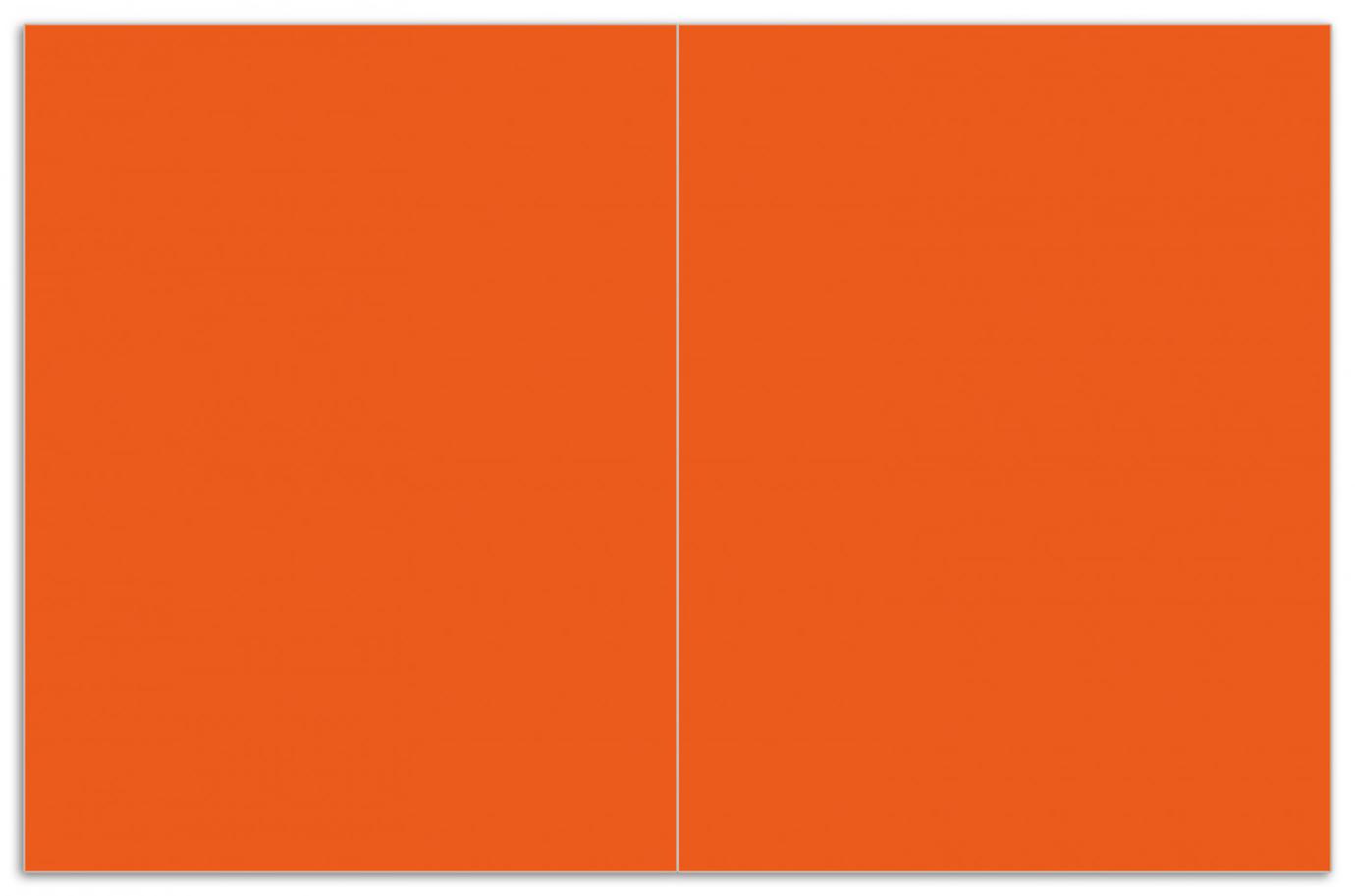 Herdabdeckplatte Orange – Bild 1