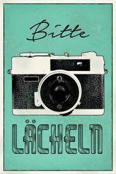 Poster Bitte lächeln - Kamera Foto Selfie