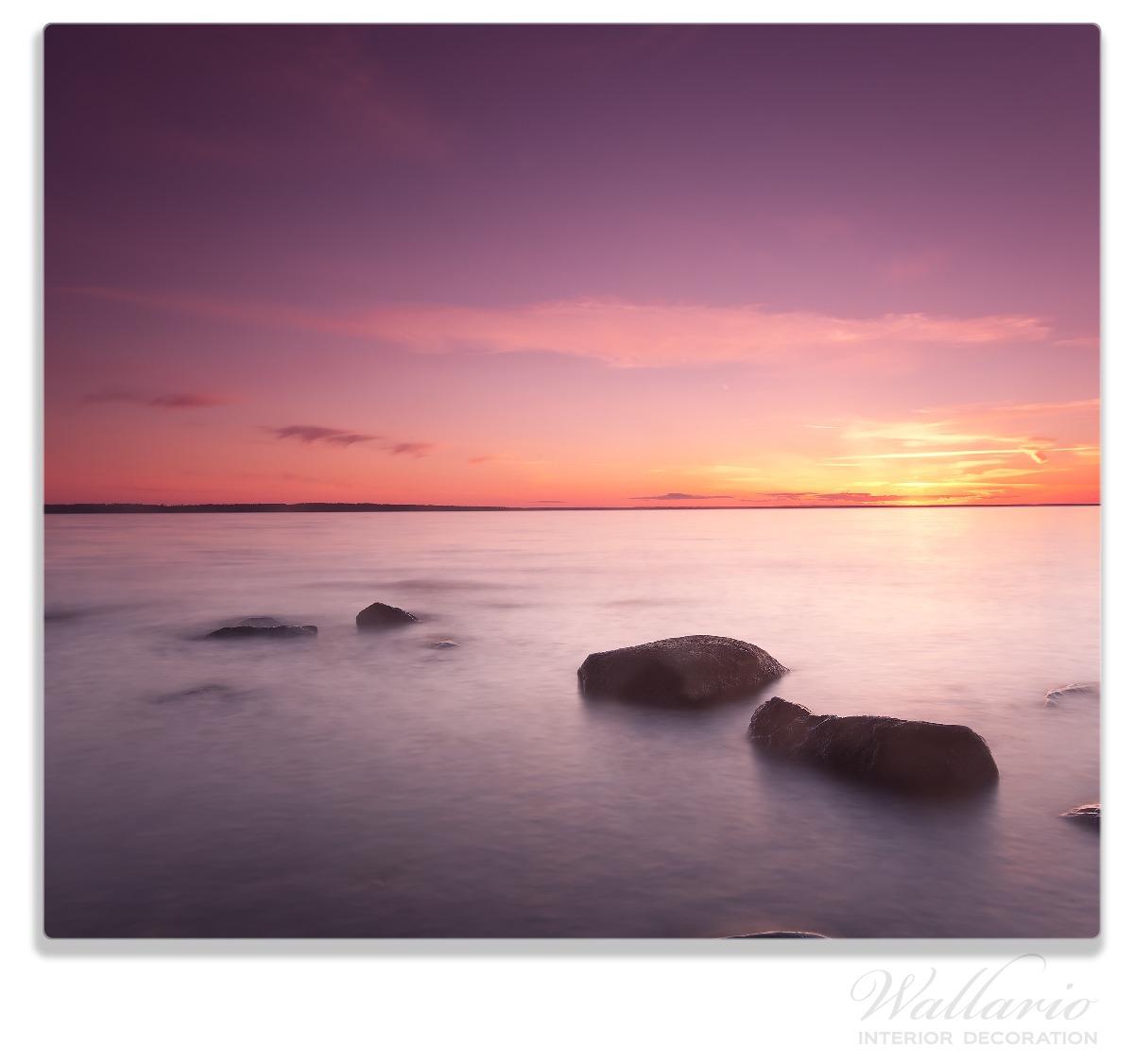 Herdabdeckplatte Nebel am See bei Sonnenuntergang – Bild 1