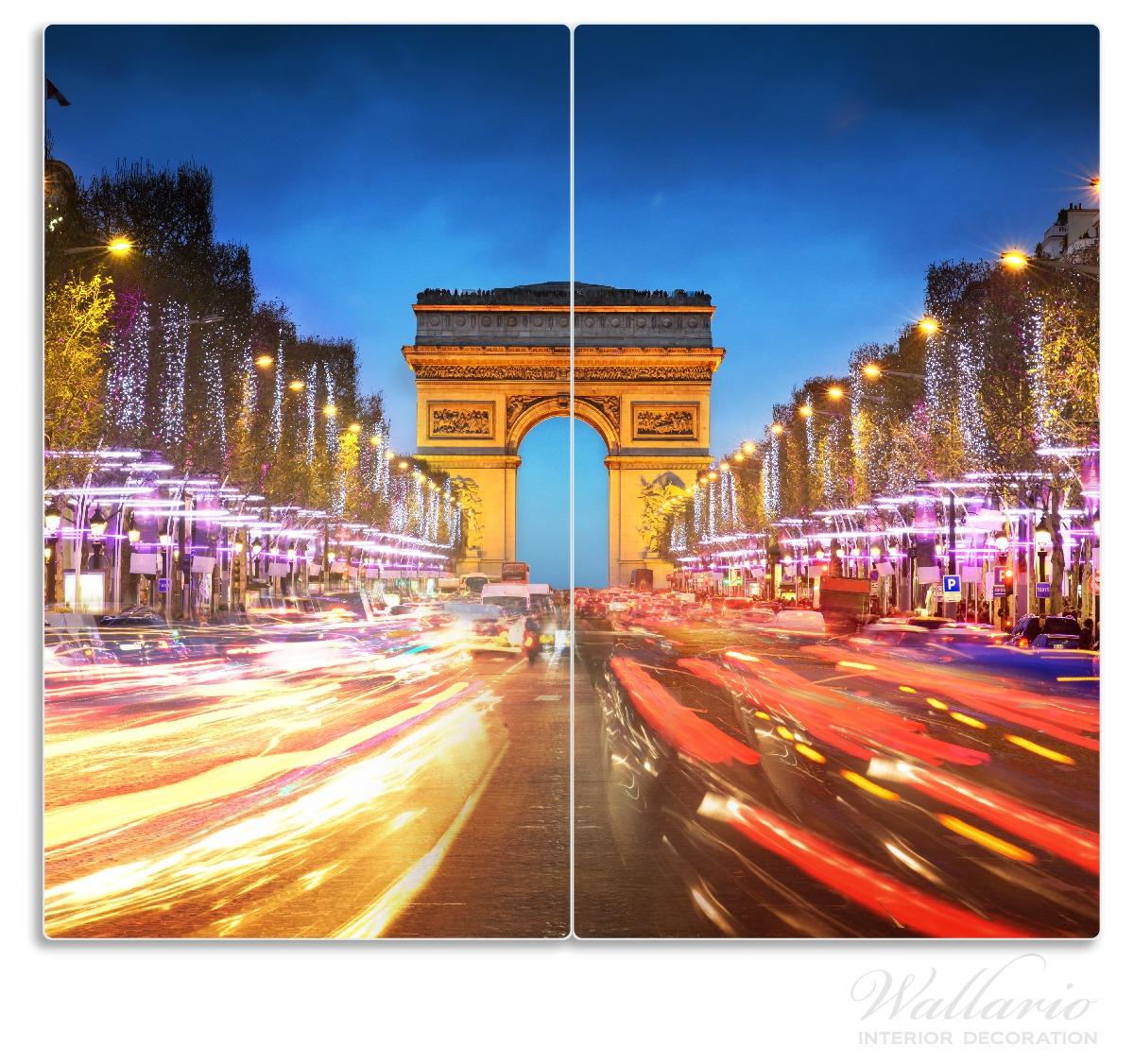 Herdabdeckplatte Arc de triomphe in Paris bei Nacht – Bild 1