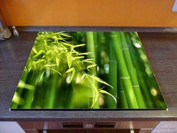 Herdabdeckplatte Bambuswald mit grünen Bambuspflanzen – Bild 2