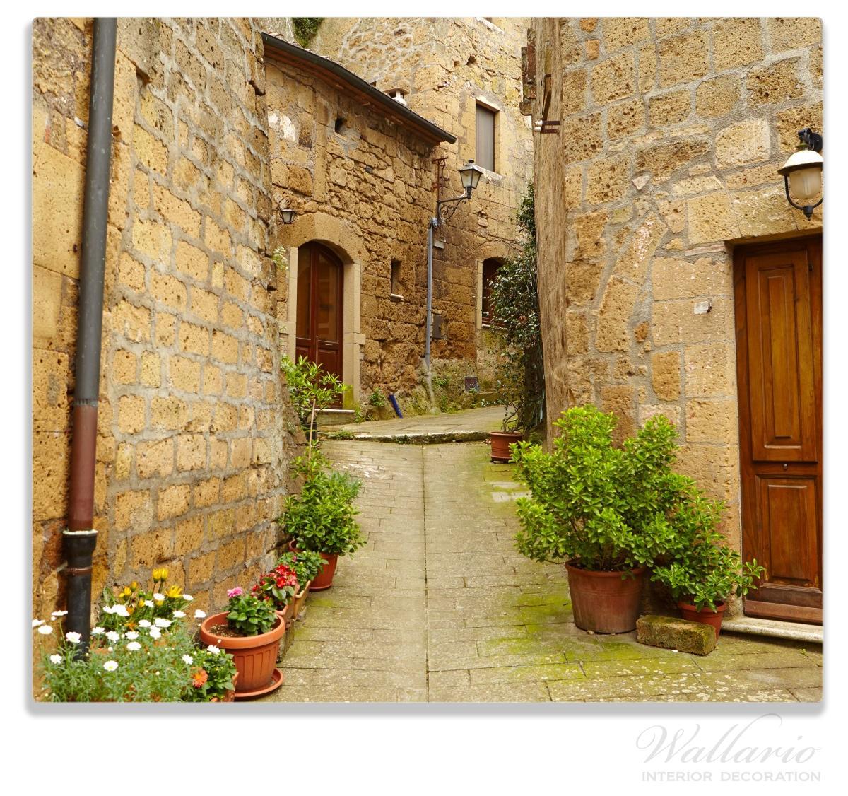 Herdabdeckplatte Weg durch die Altstadt - Toskana in Italien – Bild 1